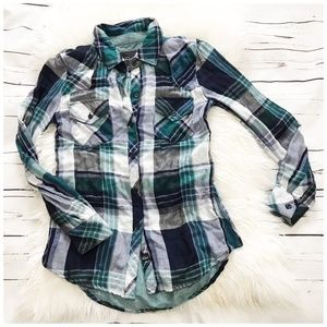 Rails green plaid shirt size XS